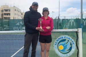 Воспитанница нашего тренера по теннису снова в финале
