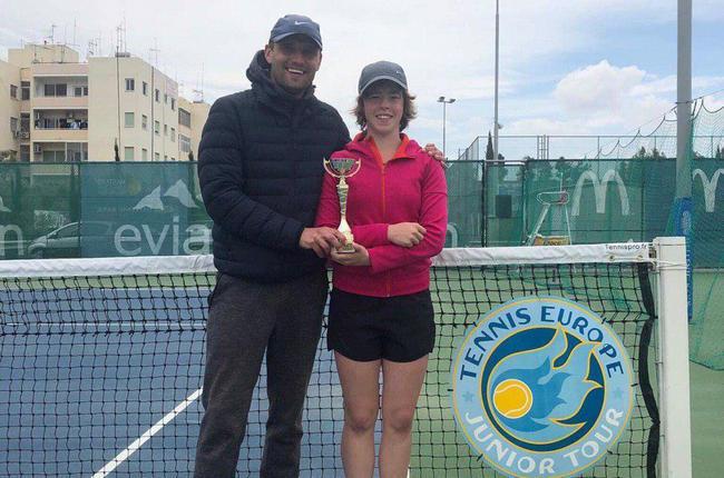 Наш тренер по теннису и его ученица стали финалистами теннисного турнира